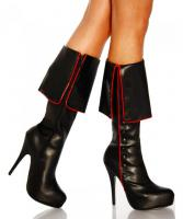 Boot-Heels Pirate - Schwarz - Gr��e 40 - NEU & OVP