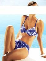 Borabora - Bikini blau-weiß Gr. 34 D-Cup - OVP - NEU