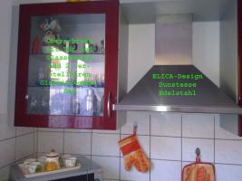 Foto 2 Bordeauxrote Hochglanz Küche mit E-Geräten