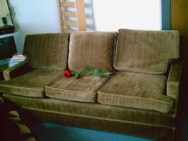 Braun und Bequem 3 Sitzer Sofa und Sessel 0€, Sofort Nehmen :)