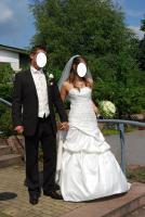 Brautkleid Hochtzeitskleid von Valerie Gr.34/36 Elfenbein Pailetten Strass