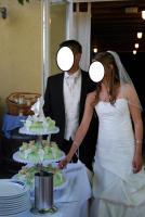Foto 2 Brautkleid Hochtzeitskleid von Valerie Gr.34/36 Elfenbein Pailetten Strass
