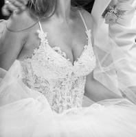 Foto 3 Brautkleid Hochzeitskleid Corsagenkleid WIE NEU 32-38 XS S M