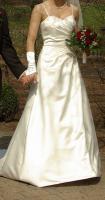 Brautkleid Hochzeitskleid mit Schleppe, Größe 38, neuwertig, champagner