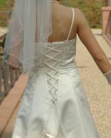 Foto 3 Brautkleid Hochzeitskleid mit Schleppe, Größe 38, neuwertig, champagner