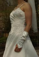 Foto 4 Brautkleid Hochzeitskleid mit Schleppe, Größe 38, neuwertig, champagner