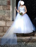 Brautkleid Hochzeitskleid mit Swarovski Steine Gr. 36/38 Wunderschön!!!