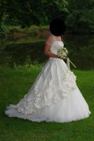 Brautkleid von Imogene, Größe 38, beige, 2-teilig