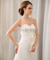 Foto 2 Brautkleid mit Kristall Blumenbrosche mit T�ll - Mode-top.de