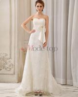 Foto 4 Brautkleid mit Kristall Blumenbrosche mit Tüll - Mode-top.de
