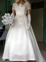 Foto 3 Brautkleid mit Schleppe Gr. 36/38 - Gebraucht