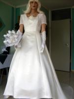 Foto 8 Brautkleid mit Schleppe Gr. 36/38 - Gebraucht