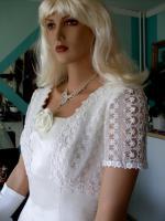 Foto 9 Brautkleid mit Schleppe Gr. 36/38 - Gebraucht