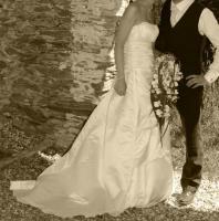 Foto 3 Brautkleid aus echter Seide!!
