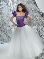 Brautkleid - Ballkleid Adora in Lila-Weiß von Modekarusell Gr.34-Gr ...
