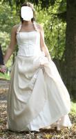 Brautkleid, Größe 40, creme