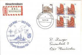 Brief Marineschiffspost Fregatte Rheinland-Pfalz