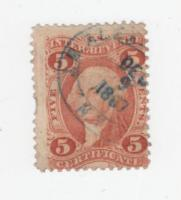 Briefmarke/Stamp USA ''Int.Revenue Certificate'' Gest. 1867 oder 1887