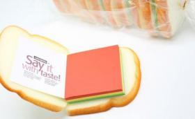 Brot, Toast, Weissbrot-Notizblock. Originelles Geschenk.