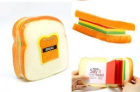 Foto 2 Brot, Toast, Weissbrot-Notizblock. Originelles Geschenk.