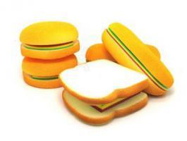 Foto 3 Brot, Toast, Weissbrot-Notizblock. Originelles Geschenk.
