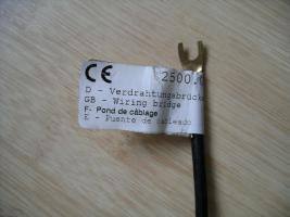 Foto 2 Brücken für Sicherungskasten / Elektroinstallation 6 mm²