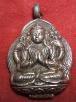 Buddha Anhäner -925er Silber  -45 x 30mm
