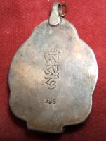 Foto 2 Buddha Anhäner -925er Silber  -45 x 30mm