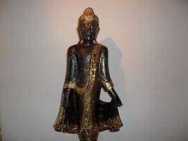Foto 3 Buddha, Skulptur, Thailand.Holz, Blattgold