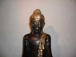 Foto 4 Buddha, Skulptur, Thailand.Holz, Blattgold