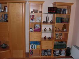 Bücherschrank Ahorn hell Echtholz GWINNER Wohndesign