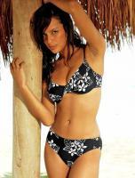 Bügel-Bikini schwarz-weiß von BEACH TIME