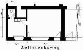 Büro/Köln 35 m², kölner Süden, attraktives Kleinbüro, von privat