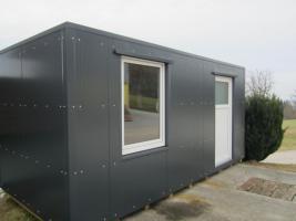 Büro-Lager-Wohncontainer, Imbiss-Würstelstand, Garage