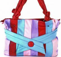 Bunte Tasche gestreift Damentasche Schultertasche