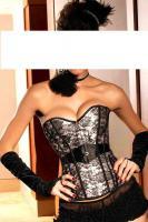Burlesque-Corsage silber/schwarz Gr. Large (L) - OVP - NEU