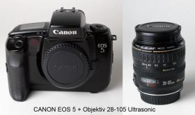 CANON EOS 5 mit viel Zubehör