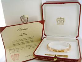 CARTIER 18K rose gold Love Bracelet, Größe: 18