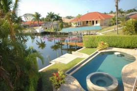 Foto 4 CASA FiORE : fantastischer Wasserblick 5*FerienVilla mit Pool/Spa in Cape Coral, Florida