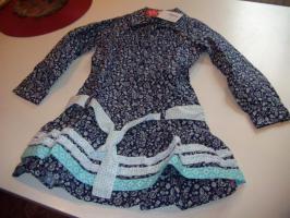 Cakewalk Kleid blau weiss neu ungetragen 116