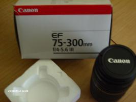 Foto 2 Canon EF 75-300mm / 4,0-5,6/ III Objektiv Neu originalverpackt