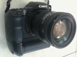 Canon EOS 10 D mit Batteriegriff und Akkus und Obj.24-200 Tokina