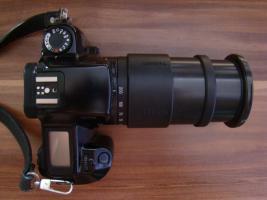 Canon EOS 1000F Spiegelreflexkamera mit Tamron aspherical AF Objektiv 28-200mm