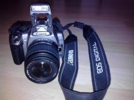 Canon EOS 350D Spiegelreflex Silber