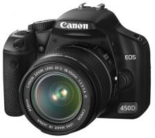 Canon EOS 450D SLR-Digitalkamera, EF-S 18-55mm, Akku, Ladegerät