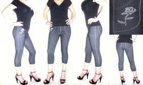 Capri Leggings Jeans Jeggings sexy Rose XS S M