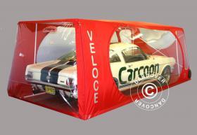 Carcoon Veloce 4,33x2,3 m Durchsichtig/Rot, Innenbereich