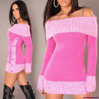 Foto 2 Carmen-Strickkleid in pink Gr. S/M + M/L + L/XL