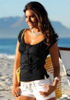 Carmenshirt, schwarz