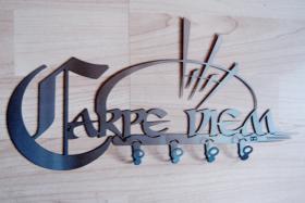 Carpe Diem Schl�ssellbrett - design in Edelstahl - by steelprint.de